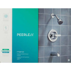 Peerless Chrome 1-Handle Lever Tub and Shower Faucet Image 2