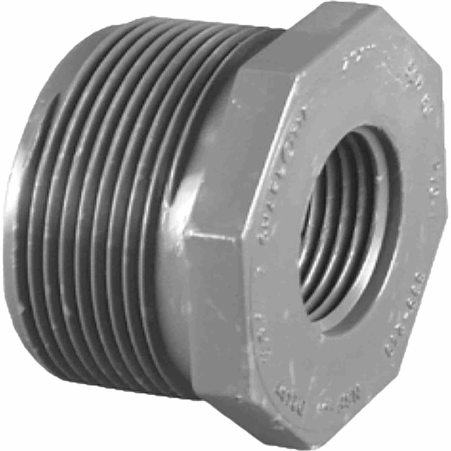 Charlotte Pipe 1-1/4 In. MPT x 1 In. FPT Schedule 80 Reducing PVC Bushing Image 1