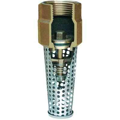 Simmons 1-1/4 In. Silicon Bronze Foot Valve, Lead Free