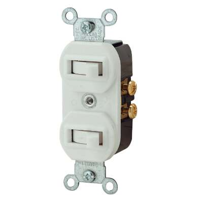 Leviton Single Pole & 3-Way White 15A Duplex Switch