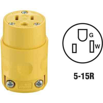 Do it 15A 125V 3-Wire 2-Pole Residential Grade Cord Connector