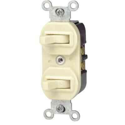 Leviton Single Pole & 3-Way Ivory 15A Duplex Switch