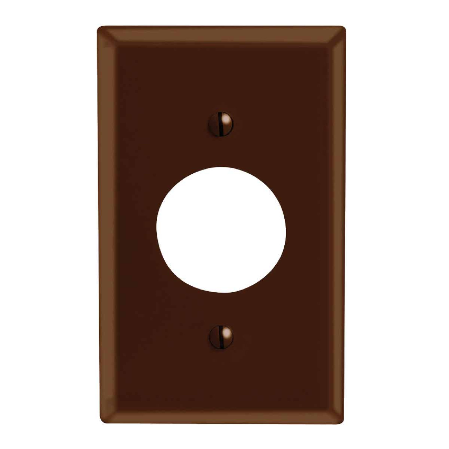Leviton 1-Gang Smooth Plastic Single Outlet Wall Plate, Brown Image 1