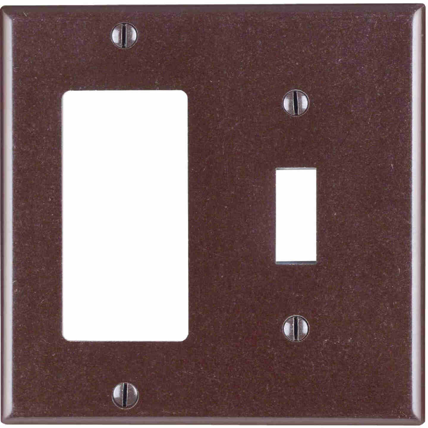 Leviton Decora 2-Gang Thermoset Single Toggle/Rocker Wall Plate, Brown Image 1