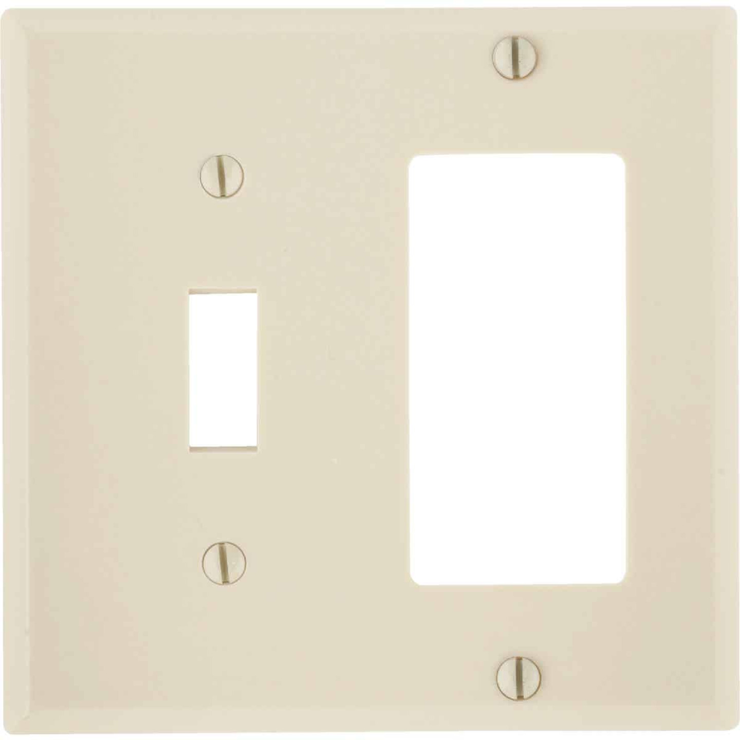 Leviton Decora 2-Gang Thermoset Single Toggle/Rocker Wall Plate, Ivory Image 1