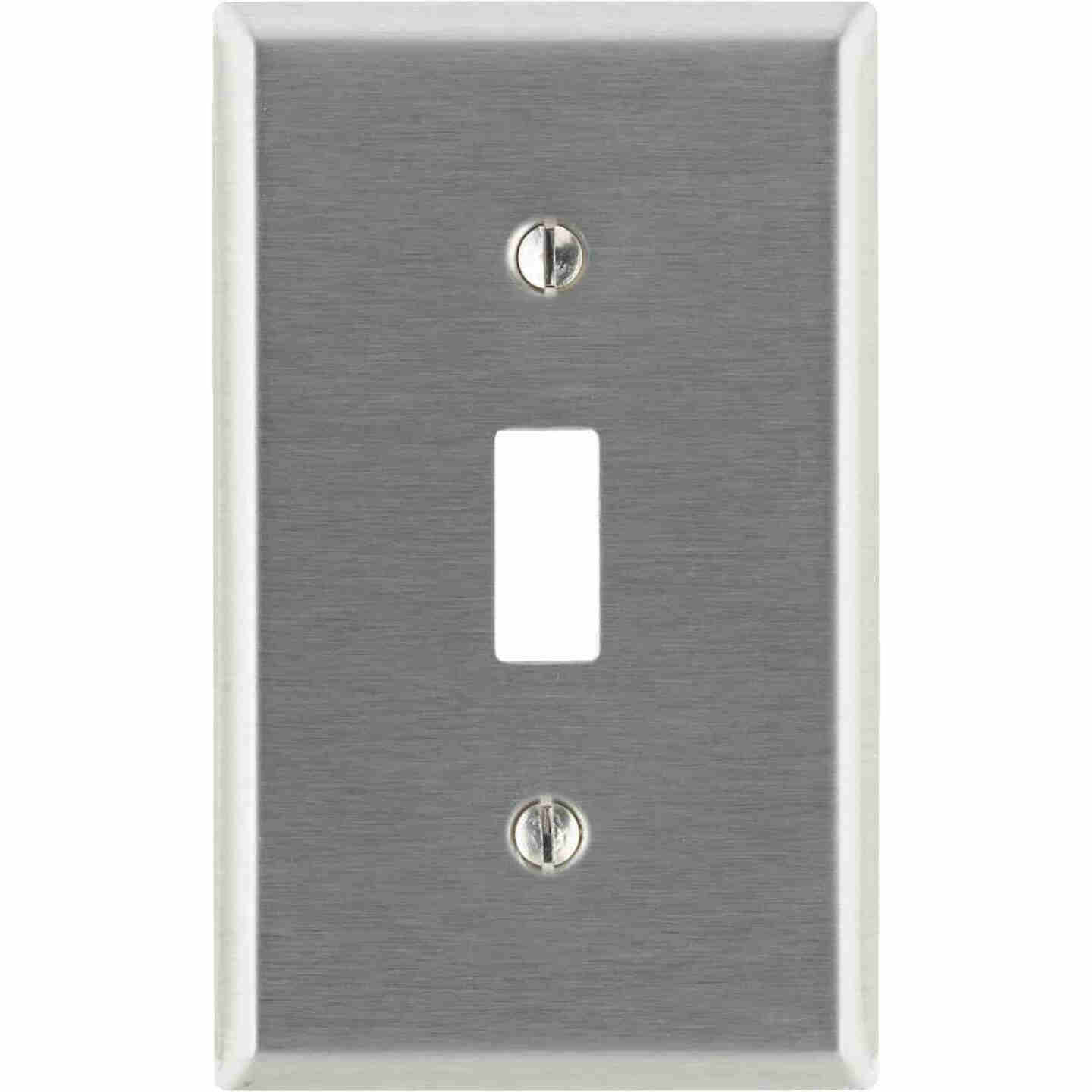Leviton 1-Gang Stainless Steel Toggle Switch Wall Plate Image 1