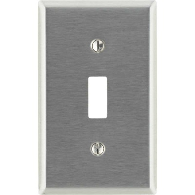 Leviton 1-Gang Stainless Steel Toggle Switch Wall Plate