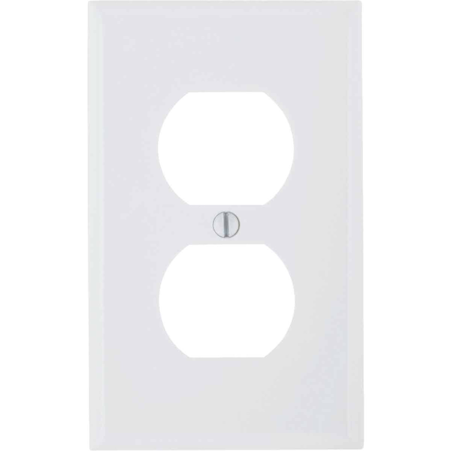 Leviton Commercial Grade 1-Gang Thermoplastic Outlet Wall Plate, White Image 1