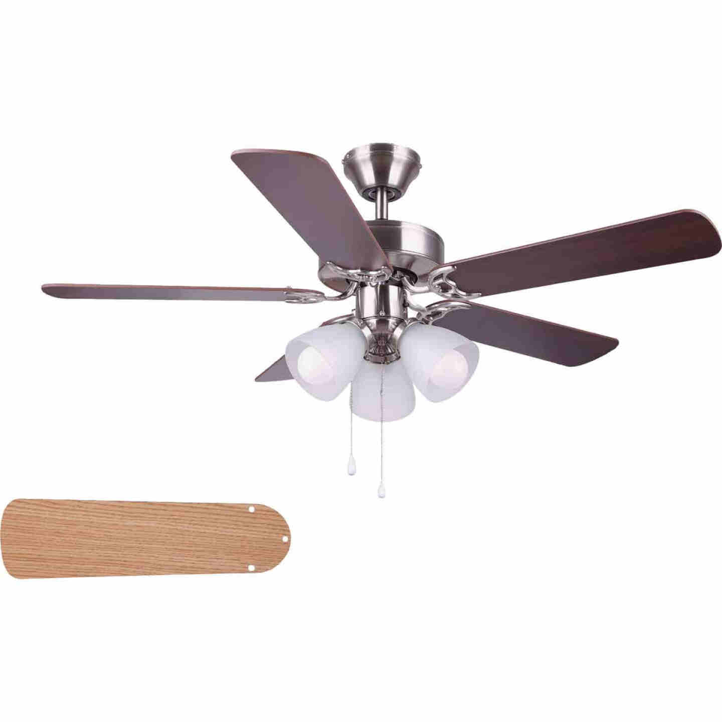 Home Impressions Studio 42 In. Brushed Nickel Ceiling Fan with Light Kit Image 1