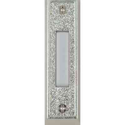 Heath Zenith Wired Silver Plastic LED Lighted Doorbell Push-Button