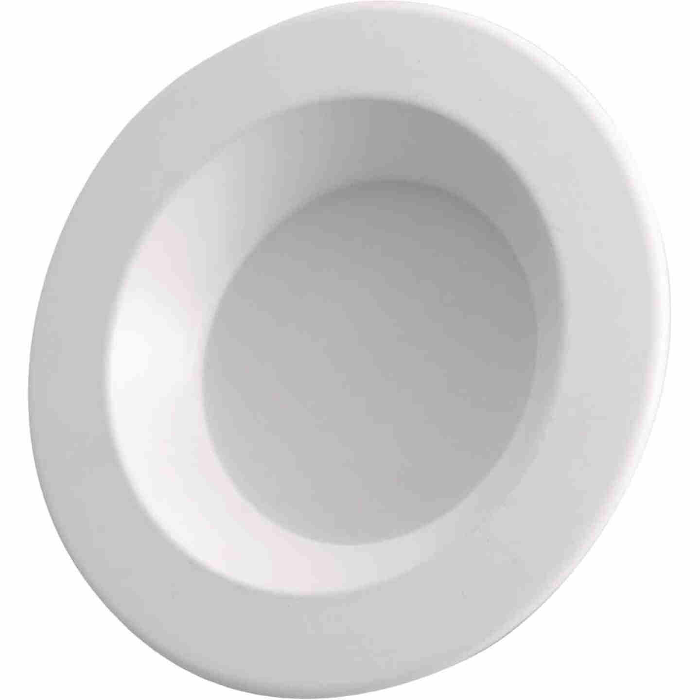 4 In. Retrofit IC Rated White LED CCT Tunable Down Light with Baffle Trim Image 5
