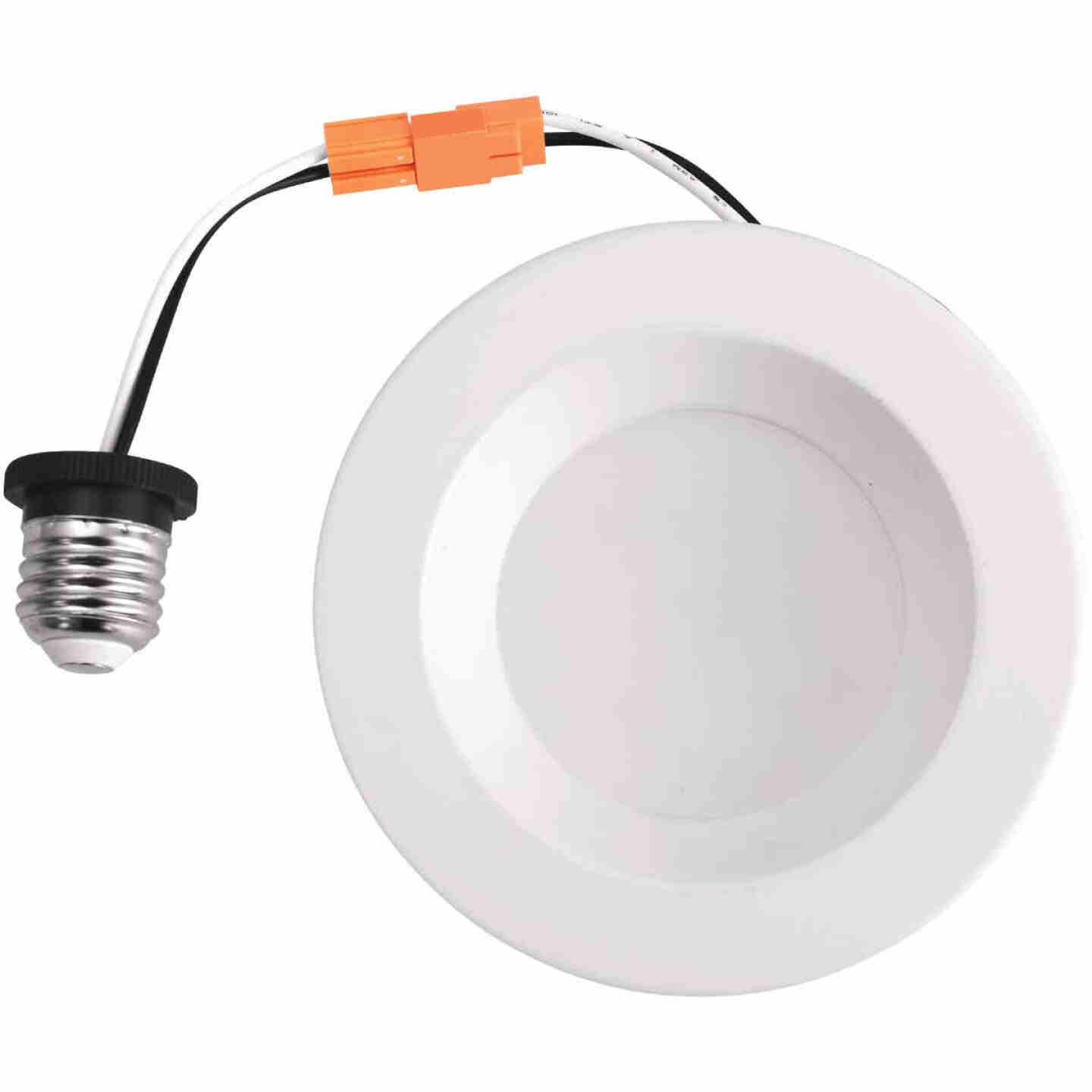 4 In. Retrofit IC Rated White LED CCT Tunable Down Light with Baffle Trim Image 6