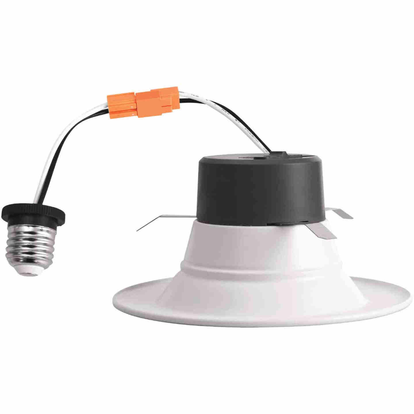 4 In. Retrofit IC Rated White LED CCT Tunable Down Light with Baffle Trim Image 4