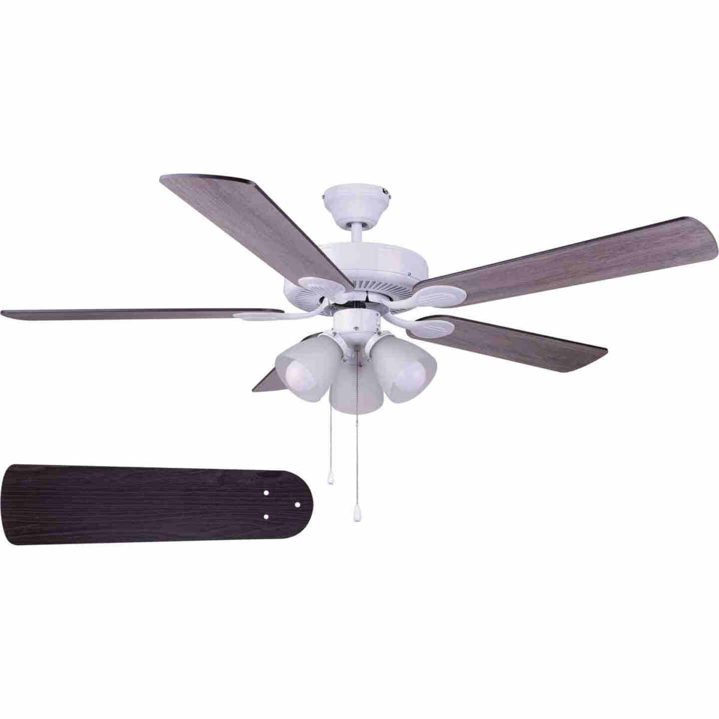 Home Impressions Villa 52 In. White Ceiling Fan with Light Kit Image 1