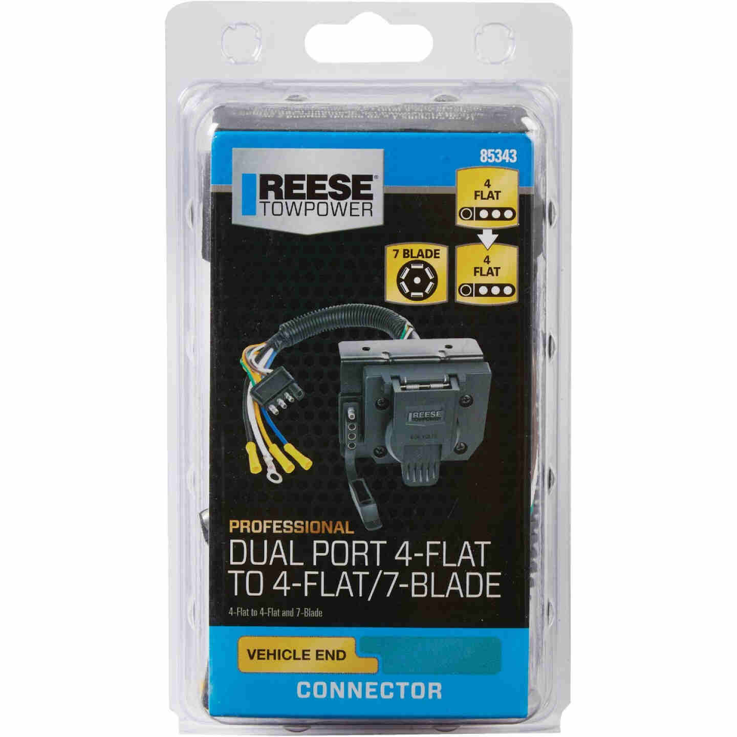 Reese Towpower 7-Flat & 4-Flat Dual Port Plug-In Adapter Image 2