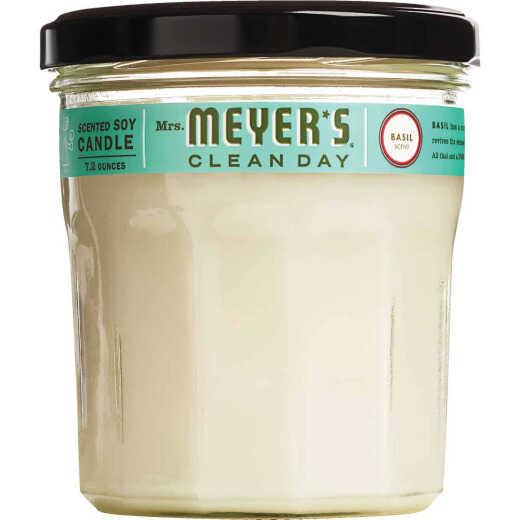 Mrs Meyer's Clean Day 7.2 Oz. Basil Jar Candle
