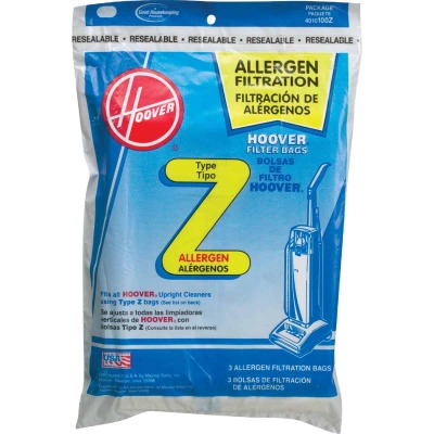 Hoover Type Z Allergen Filtration Vacuum Bag (3-Pack)