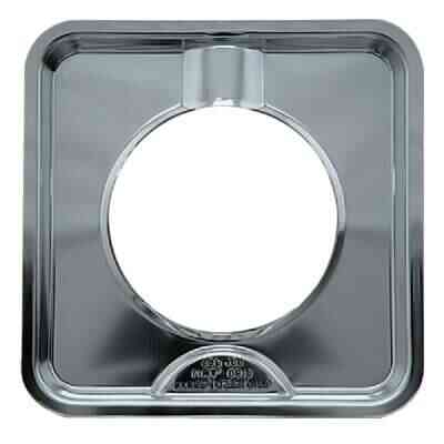 "Range Kleen Gas 4-3/8"" Style H Square Chrome Drip Pan"