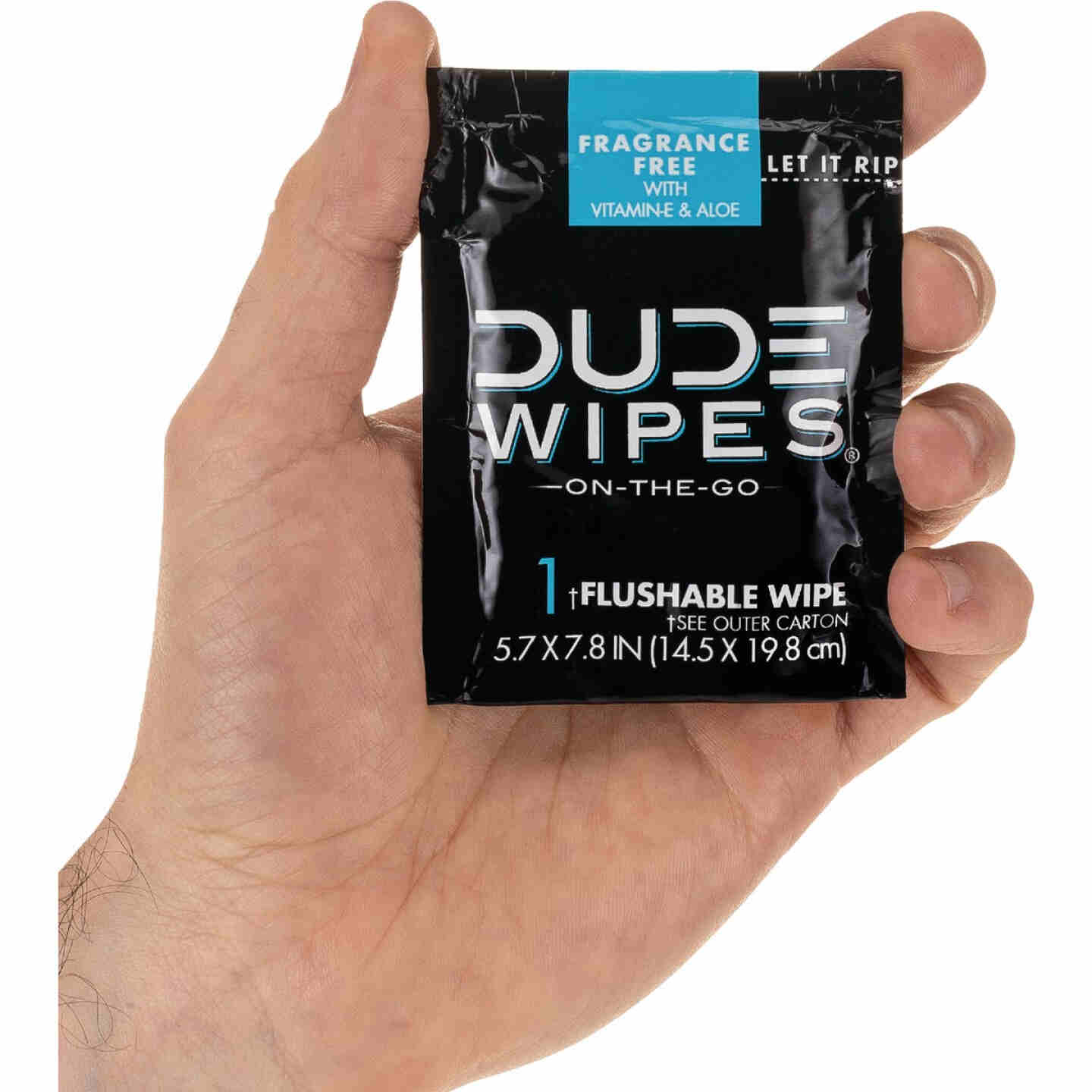 Dude Wipes On-The-Go Flushable Wipes Singles (15-Count) Image 2