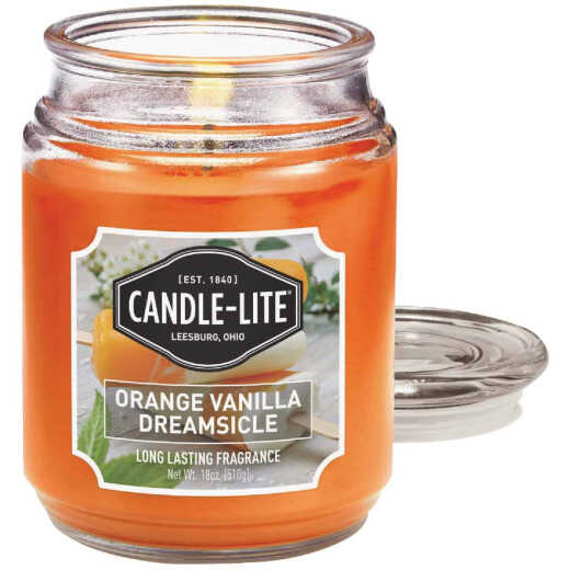 Candle Lite 18 Oz. Everyday Orange Vanilla Dreamsicle Jar Candle