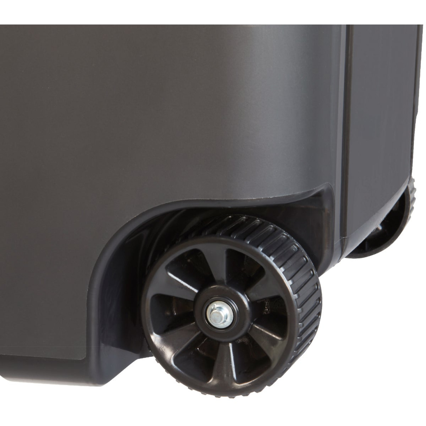 United Solutions Rough and Rugged 45 Gal. Wheeled Trash Can with Attached Lid Image 4