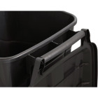 United Solutions Rough and Rugged 45 Gal. Wheeled Trash Can with Attached Lid Image 3