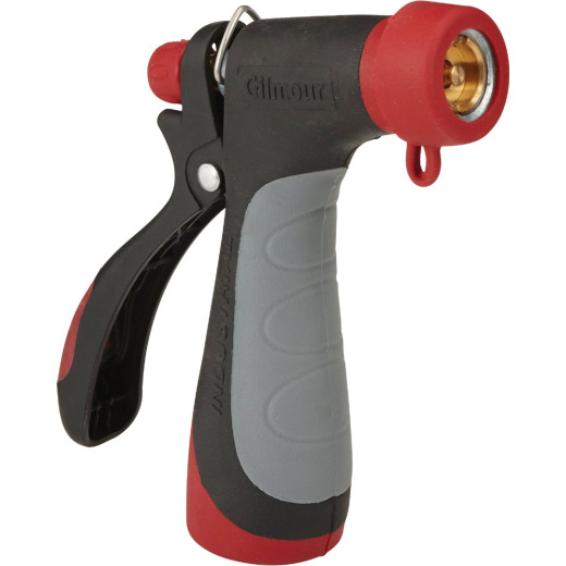 Gilmour Pro Metal 160 Degree Hot Water Pistol Nozzle, Red & Black