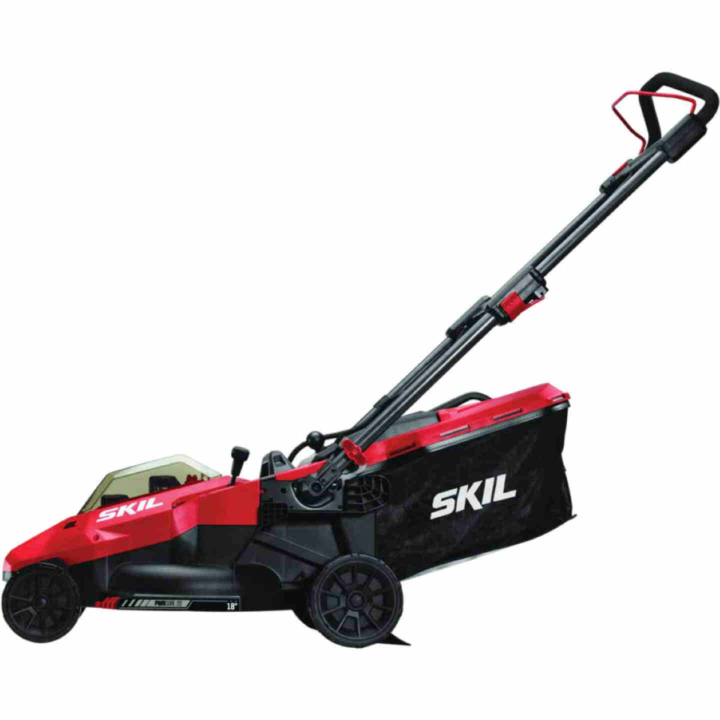 SKIL PwrCore 20V Brushless Push Lawn Mower with Two 4.0 Ah Batteries and Dual Port Charger Image 1