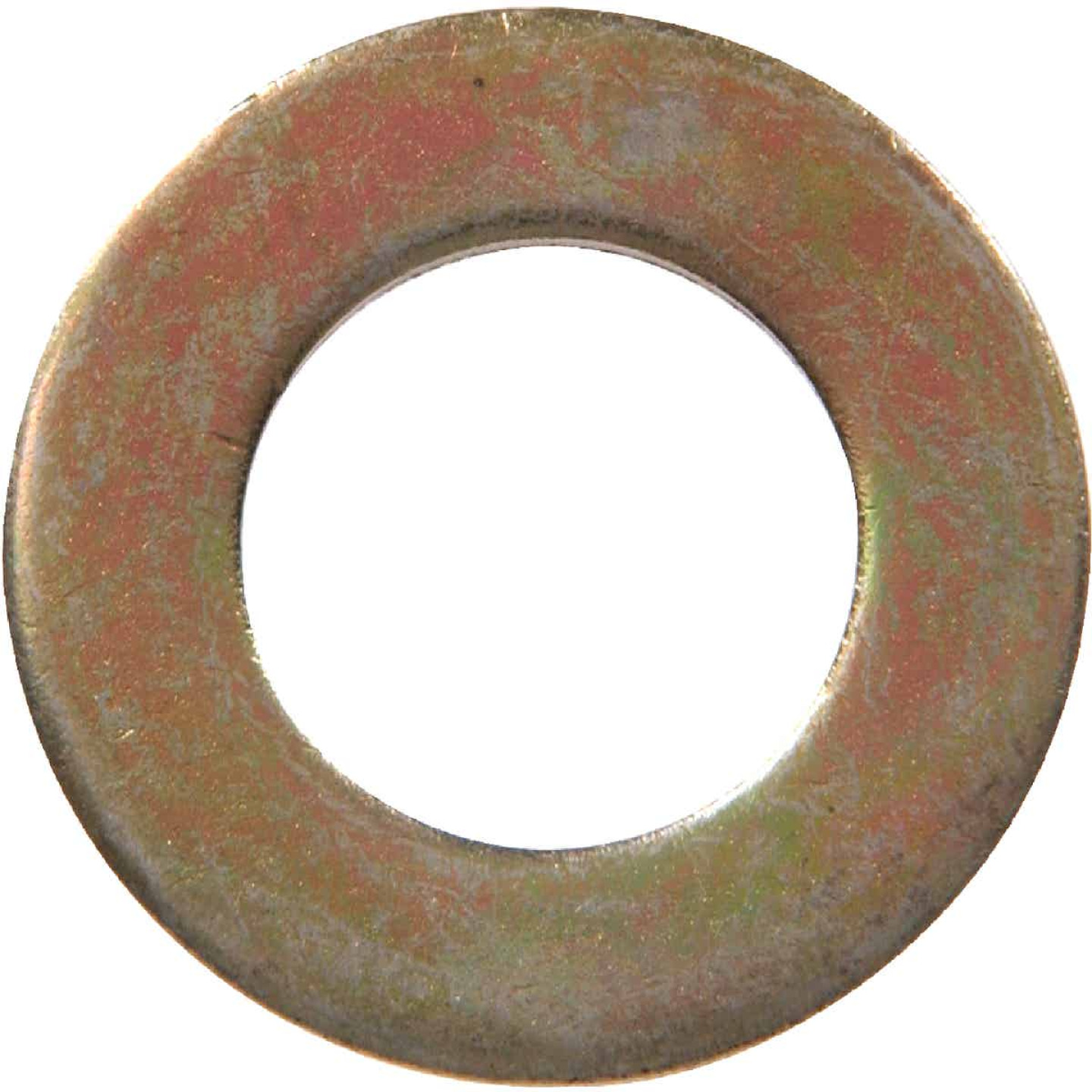Hillman 1/4 In. SAE Hardened Steel Yellow Dichromate Flat Washer (100 Ct.) Image 1