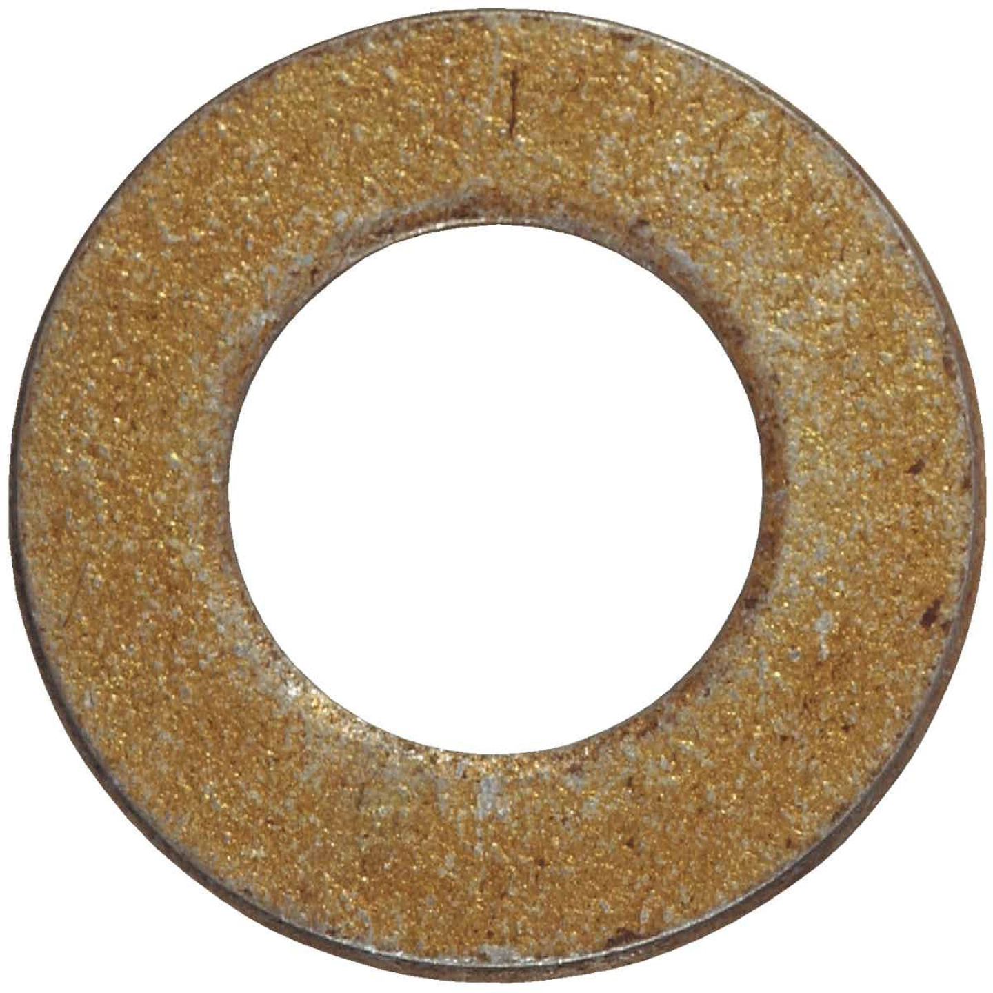 Hillman 3/8 In. SAE Hardened Steel Yellow Dichromate Flat Washer (100 Ct.) Image 1