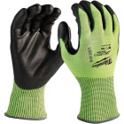 Milwaukee Men's Medium Cut Level 4 High Vis Nitrile Dipped Glove Image 1
