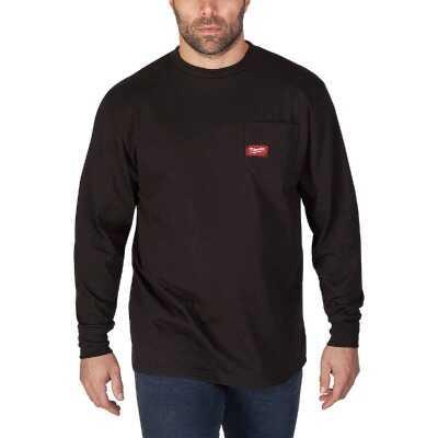Milwaukee XL Black Long Sleeve Men's Heavy-Duty Pocket Shirt