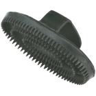 Decker 5 In. Mini Palm Brush Rubber Curry Comb Image 1
