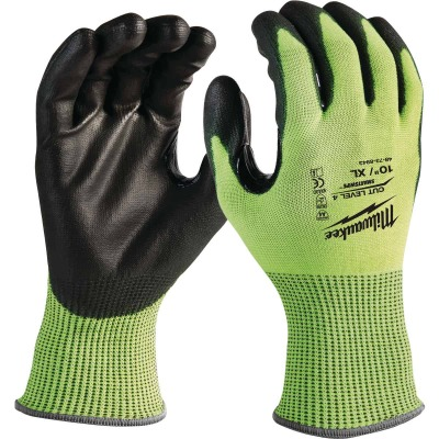 Milwaukee Men's XL Cut Level 4 High Vis Nitrile Dipped Glove