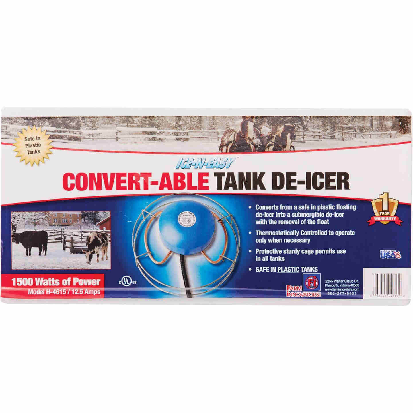 Farm Innovators Ice-N-Easy Convert-Able 1500W Floating/Sinking De-Icer Image 2