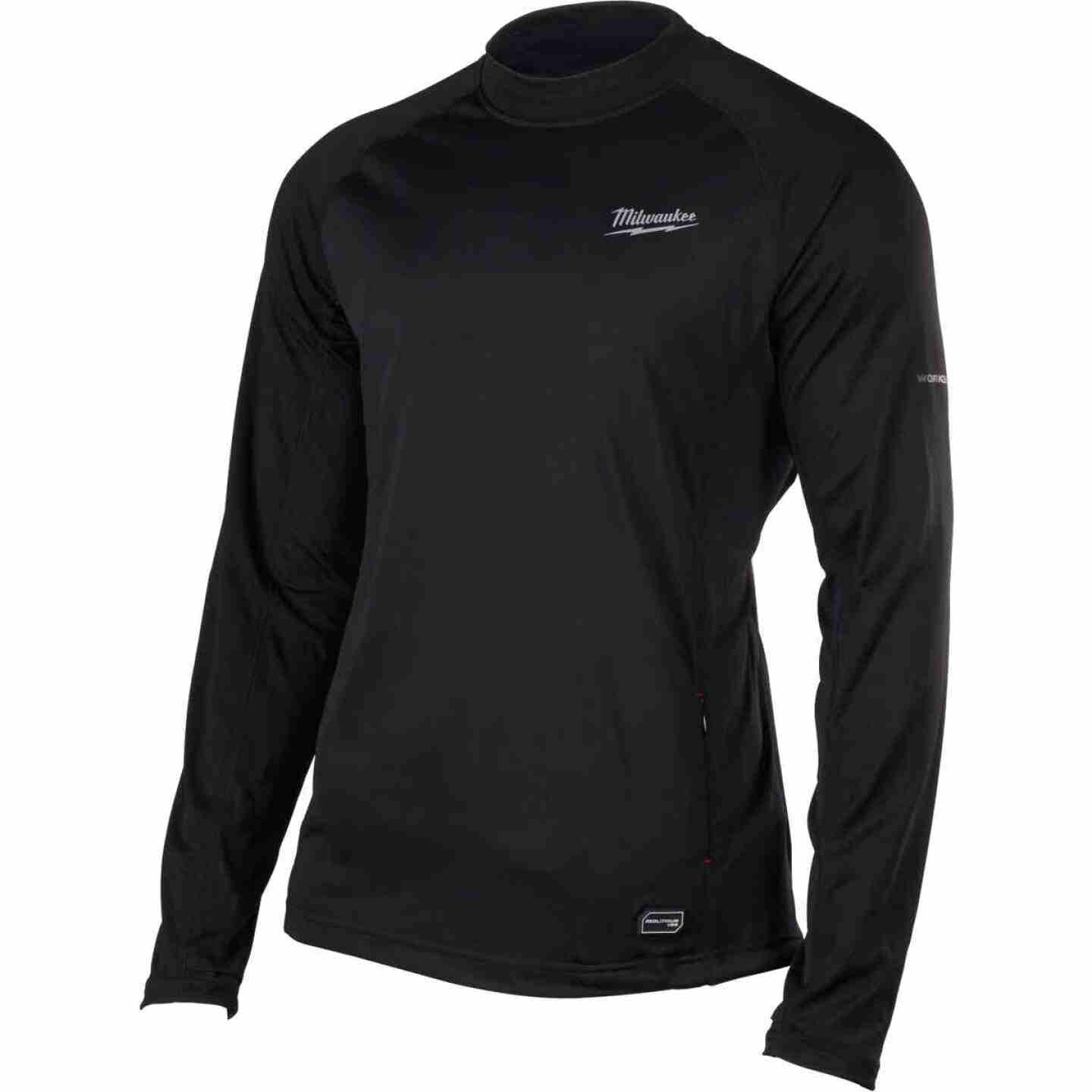 Milwaukee Workskin XL Black Heated Midweight Base Layer Shirt Image 6