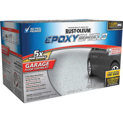 Rust-Oleum EPOXYSHIELD Gloss Garage Floor Coating Kit, Tint Base, 120 Oz.