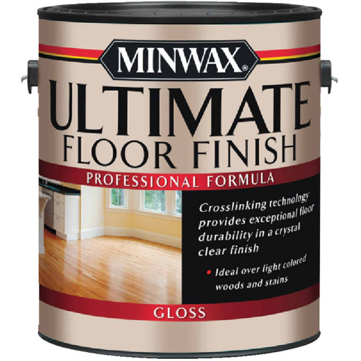 Minwax ULTIMATE 1 Gallon Gloss Water-Based Polyurethane Floor Finish
