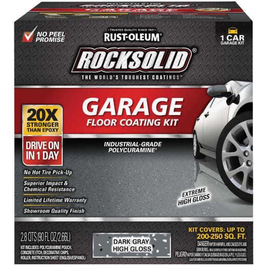 Rust-Oleum RockSolid VOC Free Garage Floor Coating Kit, Dark Gray, 90 Oz.