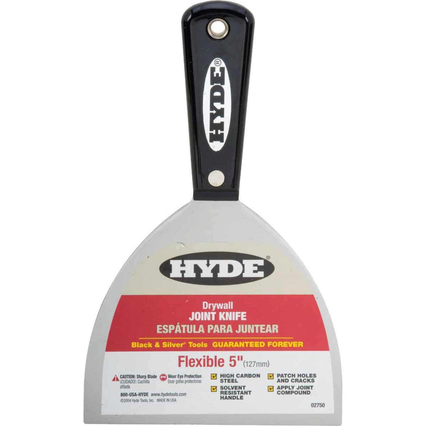 Hyde Black & Silver Professional 5 In. Flexible Joint Knife Image 1