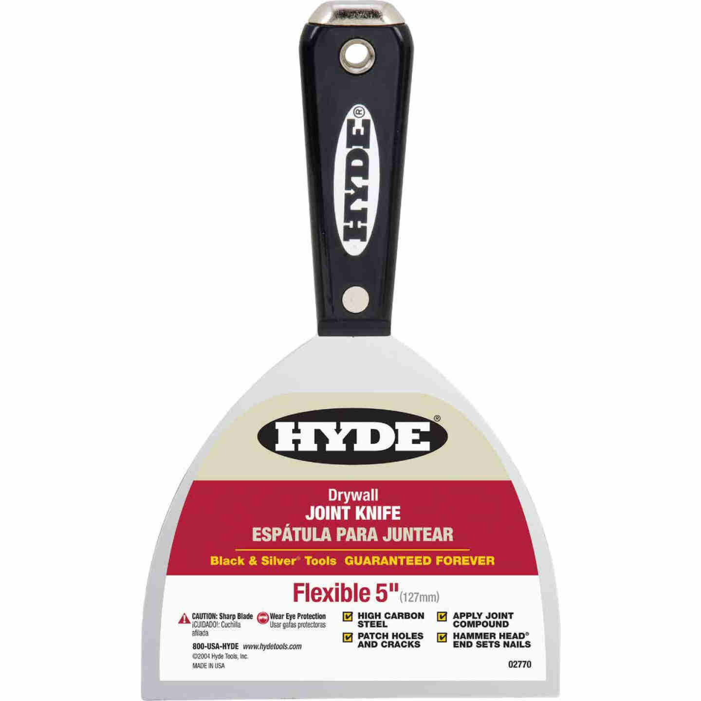 Hyde Black & Silver 5 In. High-Carbon Steel Joint Knife Image 1