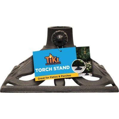 Tiki Black Cast Iron Patio Torch Stand