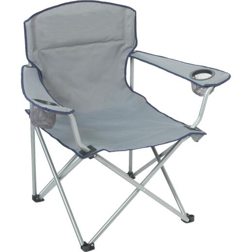 Outdoor Expressions Gray Sling Oversize Camp Folding Chair