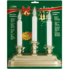 Xodus 10-1/4 In. x 9 In. x 2 In. Pewter LED Battery Operated Dual Candelabra Image 2