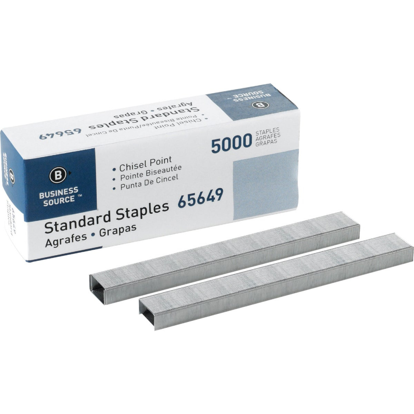 Business Source Standard Chisel Point Staple (5000-Pack) Image 1